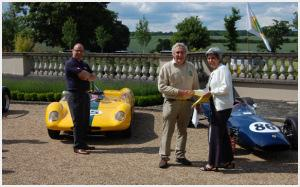 Mike Waller receiving his award for the Lotus 23