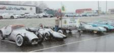 Just a few of the club cars at a snowy Brands Hatch