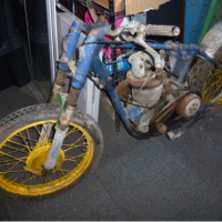 Vintage AJS motor cycle for restoration